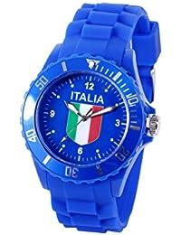 Montre bracelet silicone Viper couleur drapeau modèle sport , choisir:UR-ITA Italie