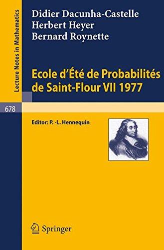 Ecole d't de Probabilits de Saint-Flour VII, 1977