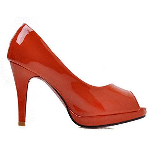 TAOFFEN Femmes a Enfiler Escarpins red