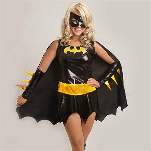 VAWAA Hochwertige Schwarze Batman Kostüm Erwachsene Batgirl Frauen Halloween Kostüme Für Frauen Sexy Superheld Cosplay Maske Cape - Batgirl Kostüm Sexy