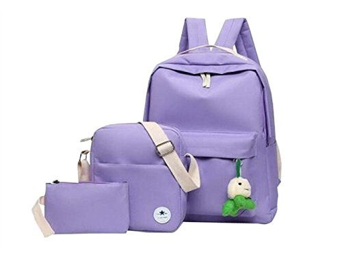Laptoptasche, Satz von 3 Canvas Rucksack/Schultertasche/Handtasche für Erwachsene/Jugendliche Leinentasche
