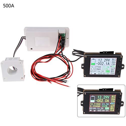 100a Verkabelung (Duyummy DC 500V 100A 200A 500A Wireless Voltmeter Amperemeter Coulometer Batterieleistungsmesser)