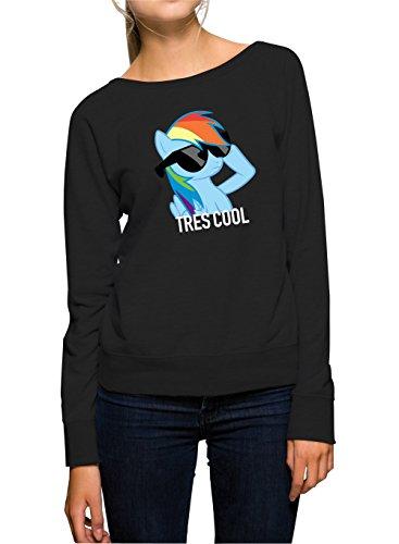 Tres Cool Pony Sweater Girls Black Certified Freak-XL
