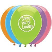 Sorry You're Leaving Helium Quality Latex Balloons, pk6