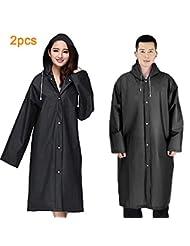 5x Regen-mantel Regenschutz Regenjacke Jacke Poncho Regenbekleidung Regenponcho Bekleidung Regenbekleidung