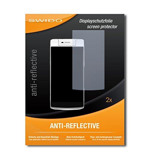 SWIDO Schutzfolie für Oppo N3 [2 Stück] Anti-Reflex MATT Entspiegelnd, Hoher Härtegrad, Schutz vor Kratzer/Bildschirmschutz, Bildschirmschutzfolie, Panzerglas-Folie