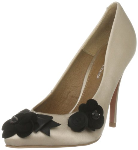 KG by Kurt Geiger Women's Bailey Satin Nude Decorative 2155024759 3 UK