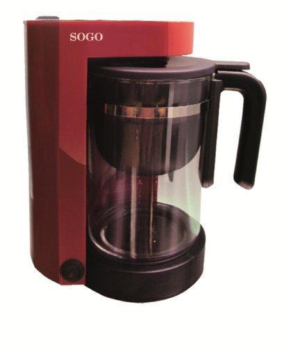 Cafetera - Tetera Sogo 2 en 1, de 870 watios