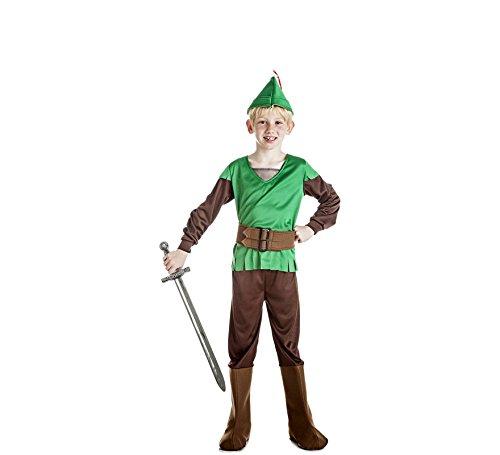 Disfrazzes Grünes und braunes Robin Hood Kostüm für einen Jungen