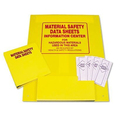 MSDS Information Center, 24w x 30h, Yellow (Magazin 3-ring Binder)