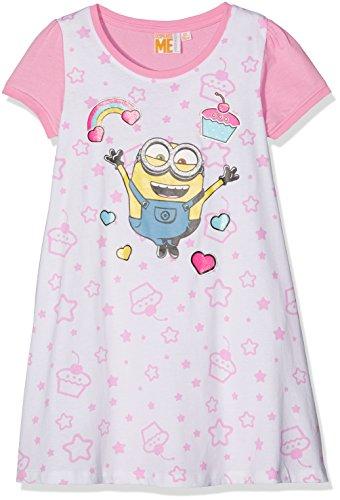 Minion Kleid (Minions Despicable Me Mädchen Nachthemd - weiß -)