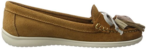 Xti Camel Suede Ladies Shoes ., Mocassins (loafers) femme Beige