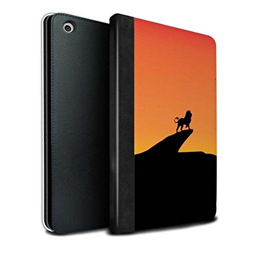 �lle/Case/Brieftasche für Apple iPad Mini 1/2/3 Tablet/Löwe Inspiriert Muster/Minimalistische Filmkunst Kollektion ()