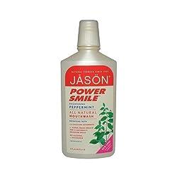 2 Packs of Jason Powersmile Mouthwash Peppermint - 16 Fl Oz
