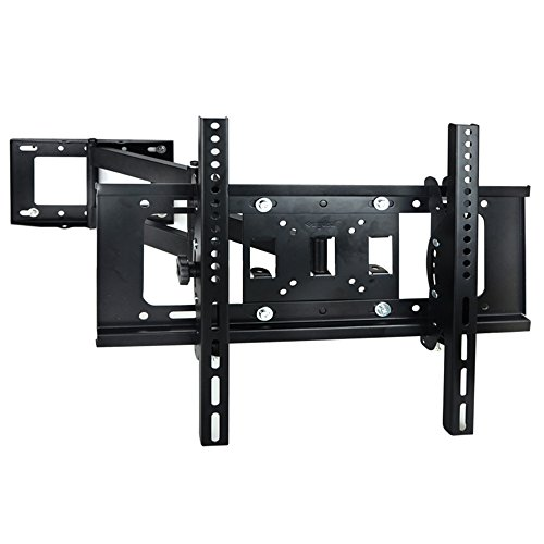 Sunydeal Soporte TV de Pared Universal, Orientable e Inclinable para Televisores, para LED, Plasma Flat Screen Pantalla Smart TV de 30 - 60 pulgadas(76cm-152cm), VESA Max. 500x400mm, Carga hasta 40 kg -Negro