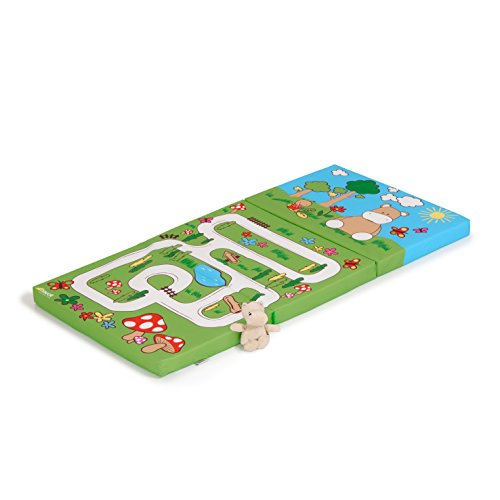 Hauck sleeper materassino per lettino da campeggio, hippo green, multicolore