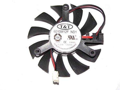 6010M12F ND112V 0.2A 2fils T & T ventilateur de carte graphique