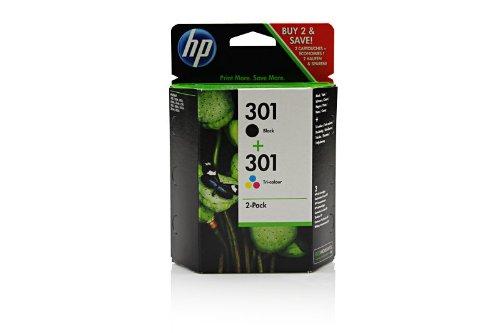 HP - Hewlett Packard DeskJet 2054 a (301 / CR 340 EE) - original - 2 x Druckkopf Multipack (schwarz, cyan, magenta, gelb) - 355 Seiten