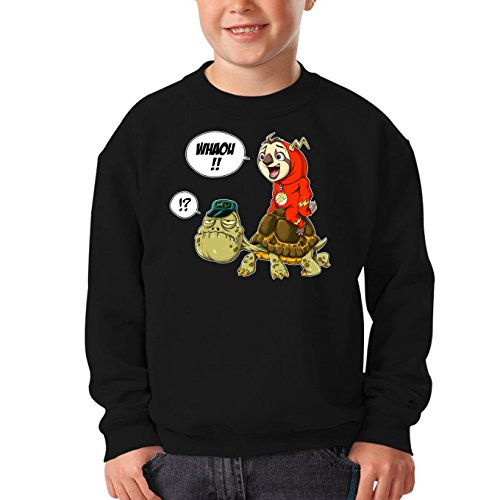 Flash from Zootopia Parody as Superhero Flash - Comics Kids Sweater - Funny Sweatshirts