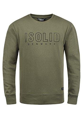 !Solid Kian Herren Sweatshirt Pullover Pulli Mit Rundhalsausschnitt, Größe:L, Farbe:Dusty Oliv (3784)