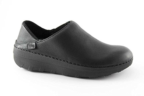 FitFlop Superloafer (Leather), Mules Femme, Noir/Cuir-090, 41 EU