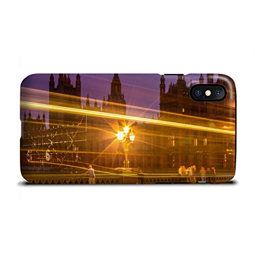 artboxONE Tough-Case Handyhülle für Apple iPhone X Big Ben Street Lights von David Engel - London Street Lights