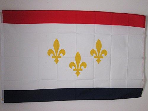 AZ FLAG Drapeau Nouvelle-Orléans 150x90cm - Drapeau New Orleans - Louisiane 90 x 150 cm - Drapeaux