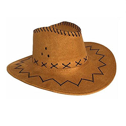 sternhut Kostümzubehör Unisex Cowboy-Hut (hellbraun) (Western Kostüme Australien)
