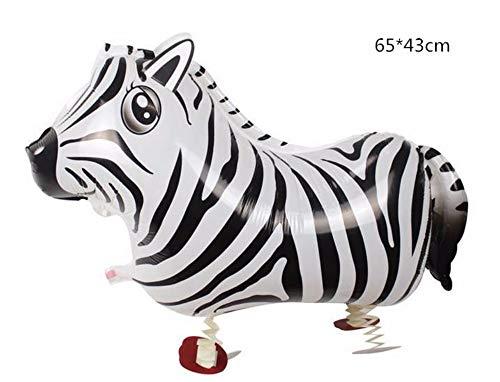 pielzeug) 1 Stück Walking Animal Balloons Nette Katze Hund Kaninchen Panda Dinosaurier Tiger Kitty Ballons Pet Balls Party Alles Gute Zum Geburtstag Dekoration, Zebra ()
