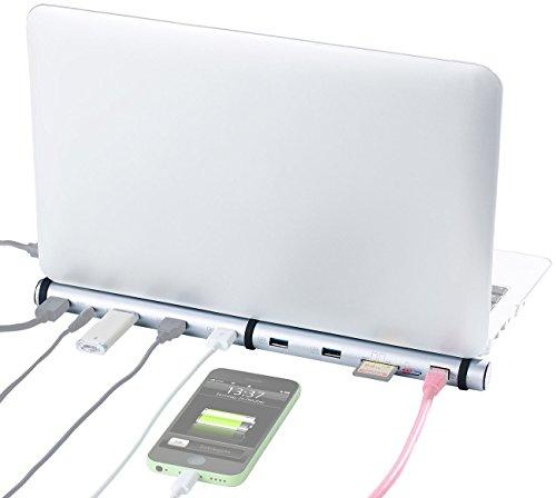 Xystec Port Replikator: 5-fach USB-3.0-Lade-Hub & Dockingstation, BC-1.2-Schnell-Ladeprotokoll (USB Hubs Dockingstations für Notebooks und MacBooks)
