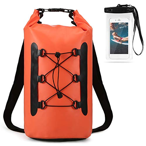 La bolsa seca impermeable duradera con funda para teléfono es una buena protección para su equipo bajo el agua. ¡Disfrute de su viaje en el agua!Especificación: Color: naranja / amarillo / negro / gris / azul / azul oscuro (opcional) Capacidad: 15L M...