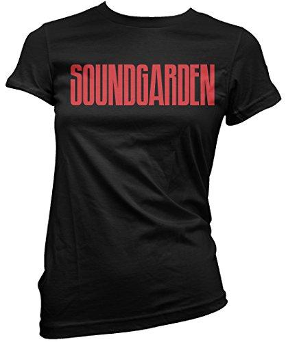 T-shirt Donna Soundgarden script - Maglietta 100% cotone LaMAGLIERIA Nero