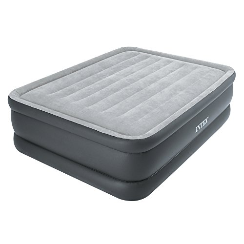 Intex Erwachsene Queen Essential Rest AIRBED with Fiber-TECH BIP, Grey, 152 x 203 x 51 cm
