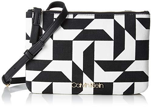 Calvin Klein Damen Ck Must Ew Crossbody Q Umhängetasche, Schwarz (QUILT PRINT BW), 1x10x23 cm Calvin Quilt