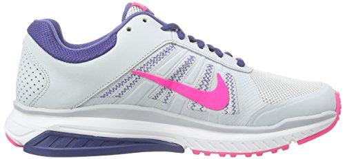 Nike Dart 12, Chaussures de Running Compétition Femme Argent (Pure Platinum/Pink Blast-Dark Purple Dust)