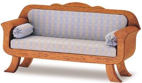 MiniMundus Biedermeier Sofa für das Puppenhaus, Bausatz
