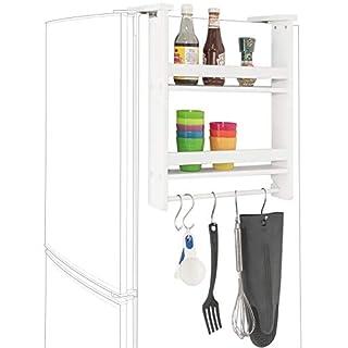 SoBuy® FRG149-W, Hanging Shelf for Refrigerator, 2 Tiers Kitchen Shelf Spice Rack Kitchen Cabinet, White