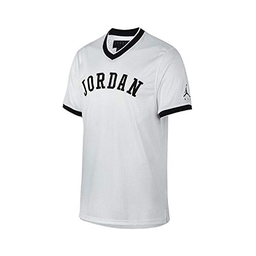 Jordan T-Shirt - Sportswear Jumpman Weiß/Schwarz Größe: M (Medium) (Jersey Mesh Nike)