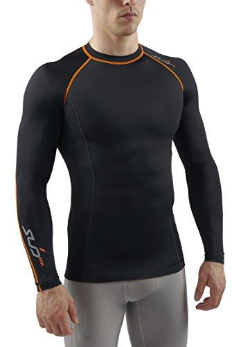 sub-sports-uomo-rx-maglietta-a-compressione-graduata-biancheria-intima-tecnica-base-layer-a-maniche-