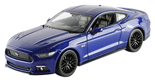 welly-24062bl-ford-mustang-gt-2015-echelle-1-24-bleu