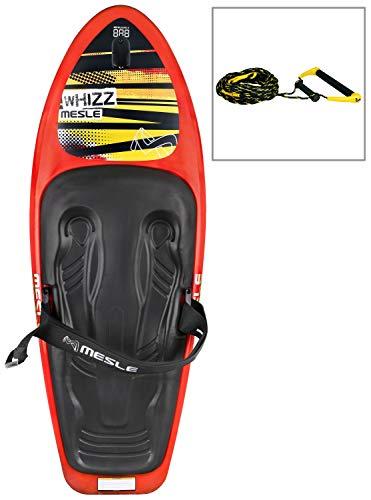 MESLE Package Kneeboard Whizz Hook, Robustes Slalomboard mit Kneeboardleine
