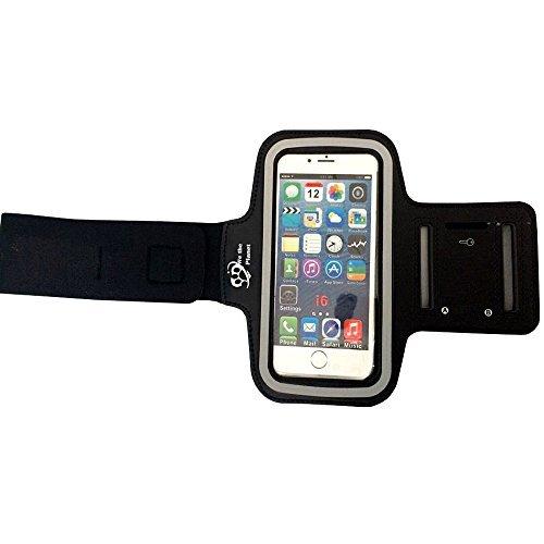 Premium-Fascia da braccio sport (nero) per Apple iPhone 6, 5s, 5, Samsung Galaxy s4/regolabile, antiscivolo, comodo da indossare e si adatta a qualsiasi Smartphone con 13,21 cm (5,2