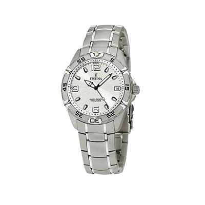 FESTINA Sport 16171/1 - Reloj unisex de cuarzo, correa de acero inoxidable color plata de FESTINA