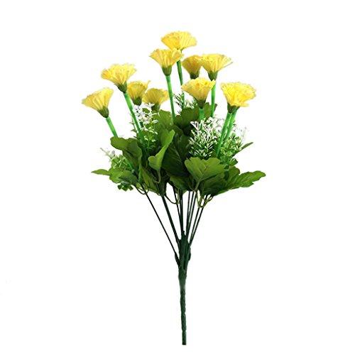 Generic Kunstblumen 11-Kopf Nelke Silk Blumenstrauß Hochzeit Partei Dekor