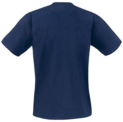 Nintendo Mario - Built Of Text T-Shirt blau Blau