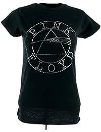 Pink Floyd Circle Logo Women's T-Shirt Black Official Licensed Music