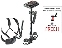FREE Table Clamp & Unico Quick release Flyfilms 5000 with Body Pod for DV DSLR Camera weighing upto 10 lbs
