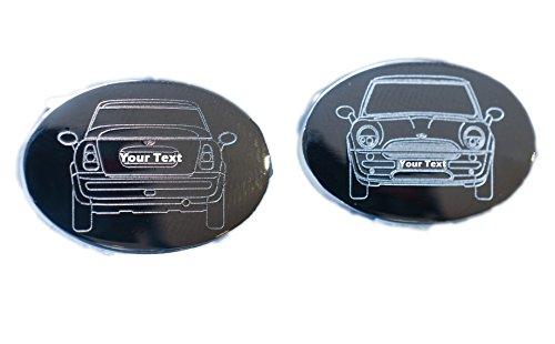 Auf Bestellung Angefertig Auto Manschettenknöpfe - Form von Ihr Auto Graviert laufend Premium Qualität Manschettenknöpfe - Mini Cooper