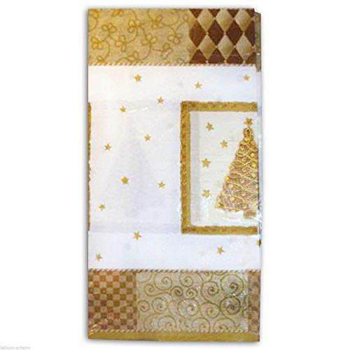 Noël 1 Nappe papier 259x137 cm environ - Blanc et doré