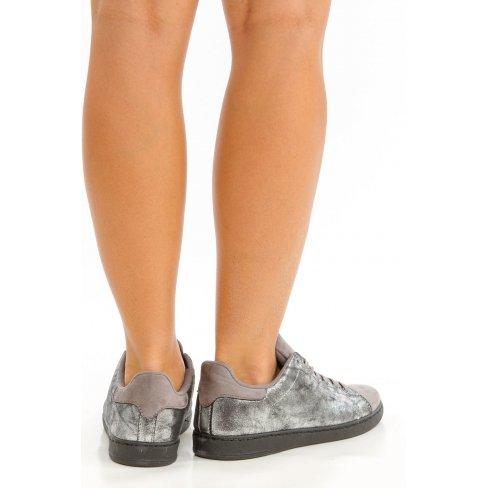 Princesse boutique - Baskets grise effet métallisé Gris